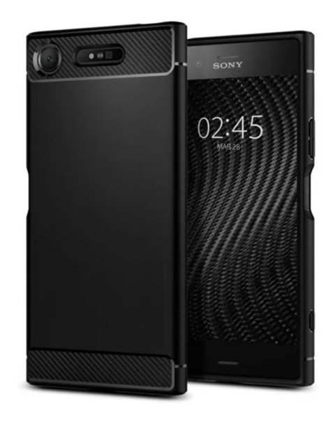 Funda Fibra Carbono Rugged Armor Sony Xz1 + Film Templado - Pandashop