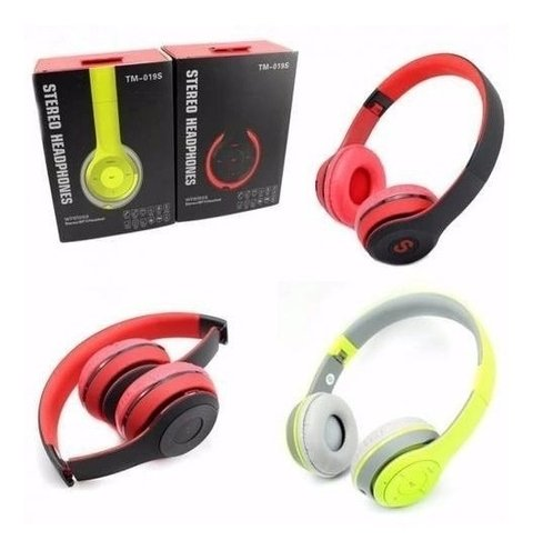 Auricular Bluetooth Inalambrico Radio Fm Sd Mp3 Tm-019s - tienda online