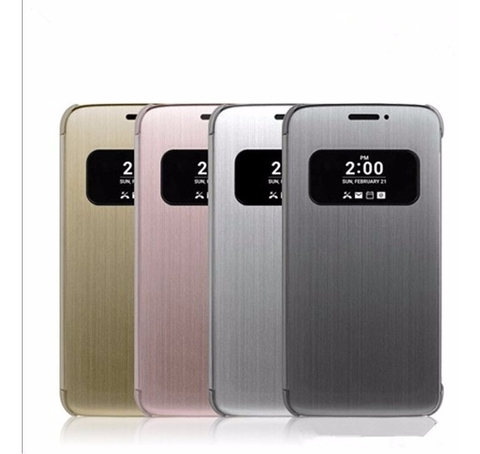 Funda Flip Cover Original LG G5 Dorada Quick Cover