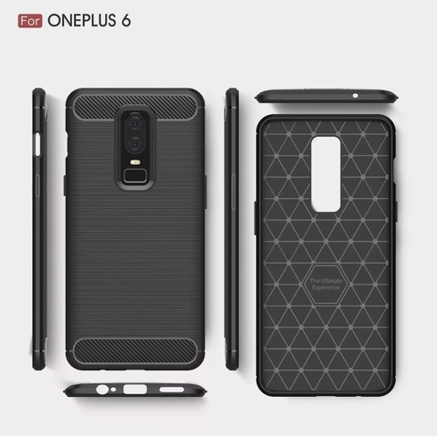 Funda Tpu Fibra Carbono Rugged One Plus Oneplus 6 + Templado - comprar online