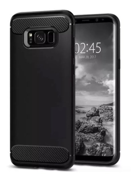 Funda Tpu Fibra Carbono Rugged Armor Samsung Galaxy S8 S8 Plus + Templado 3d