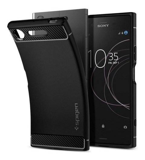 Funda Fibra Carbono Rugged Armor Sony Xz1 + Film Templado en internet