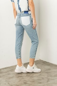 Pantalon Denim and white - comprar online