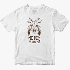 Combo Bota Texana Boi Branco + Camiseta Country The Duel - comprar online