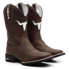 Combo Bota Texana Boi Branco + Camiseta Country The Duel - Botas Texanas e Botas Country - Masculinas e Femininas