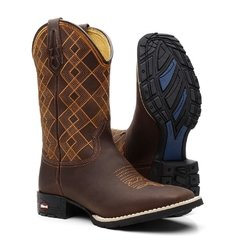 Bota Texana Masculina Orange Chess + Camiseta EUA Combo - Botas Texanas e Botas Country - Masculinas e Femininas