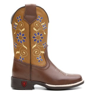 Bota Texana Blue Flower Infantil