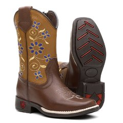 Bota Texana Blue Flower Infantil na internet