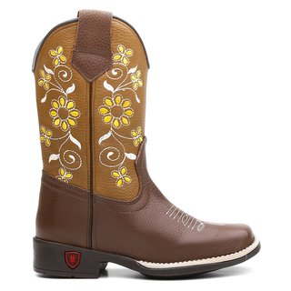 Bota Texana Yallow Flower Infantil