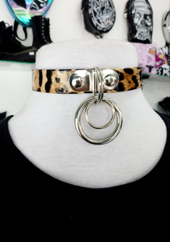 CHOKER ANIMAL PRINT ARGOLLA DOBLE
