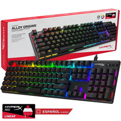 Teclado Gamer Hyperx Alloy Origins Mecanico Rgb Switches Red