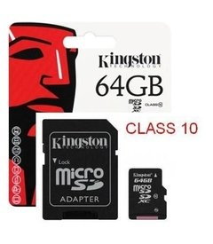 Memoria Micro Sd Xc 64gb Kingston Clase 10 80mb/s Original - comprar online