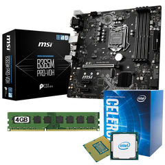 Combo Kit Actualizacion Mother Msi B365m + Celeron + 4gb Ram