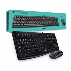 Kit Teclado Y Mouse Logitech Mk120 Usb Desktop
