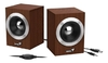 Parlantes Genius Sp Hf280 Wooden Madera Estereo Usb 6w Pc