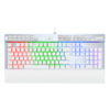 Teclado Gamer Redragon Yama K550 Qwerty Outemu Purple Español Latinoamérica De Color Blanco Con Luz Rgb