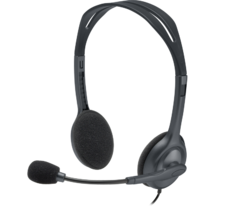 Auriculares Logitech Headset H111 Stereo Con Microfono 3.5 Pc - tienda online