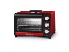 Horno Eléctrico Rojo Ultracomb 28lts 2500w Con Anafe Superior