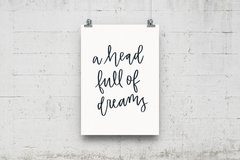 "Quadro ""A Head Full Of Dreams"" - loja online"