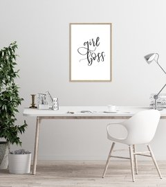 "Quadro ""Girl Boss Lettering"" - Rachel Moya 