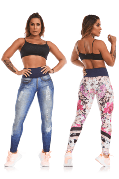 Legging Double Face Destroyed - Caju Brasil