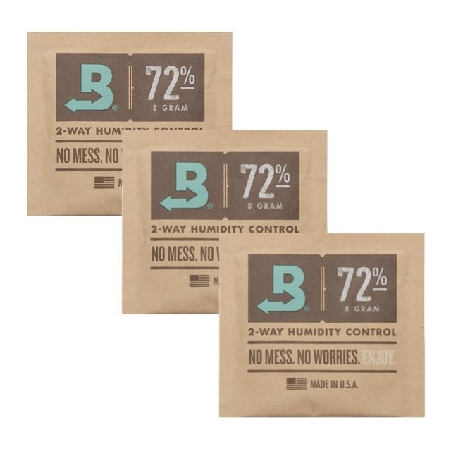 BOVEDA 72% - 8g kit c/3un umidificador charutos