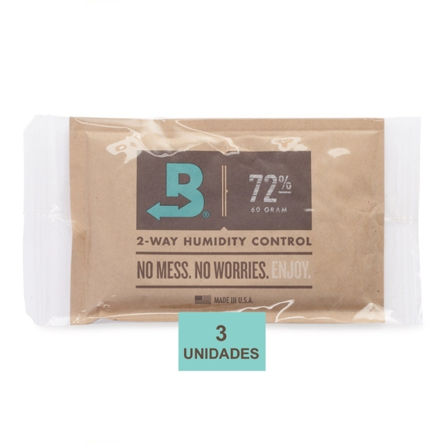 BOVEDA 72% - 60g kit c/3un umidificador charutos