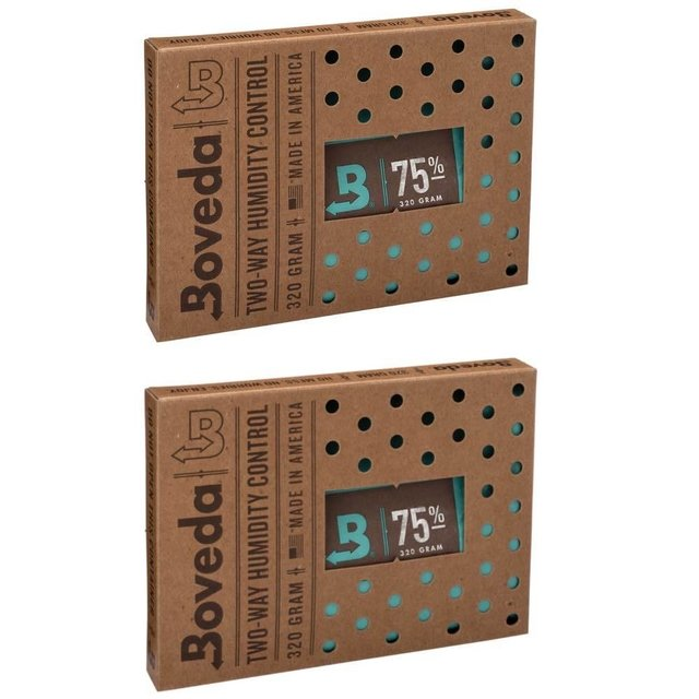 BOVEDA 75% - 320g kit c/2un umidificador charutos