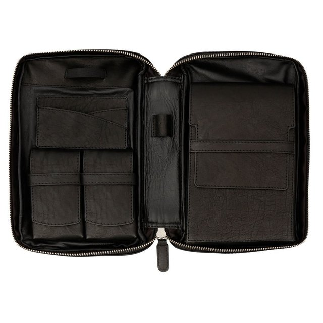 Porta charutos NERONE Travel Case couro preto vintage PC