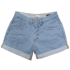 SHORTS MOM BOTAO FORRADO