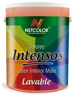 "Látex Interior Lavable Colores ""Intensos"" Netcolor x 4 Lts"