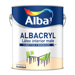 Albacryl Latex Interior Blanco Mate Alba x 1 Lt