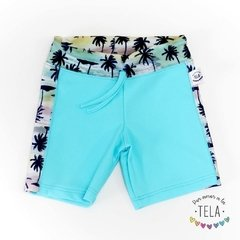 SHORT UV50 - Ballenas Rosa Intenso