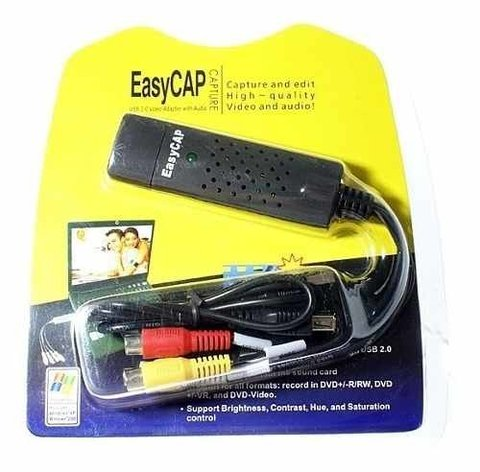 Capturadora Video Rca Easy Cap Usb Externa Vhs A Dvd Easycap, Mania-electronic