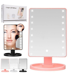 Espejo Para Maquillaje Luces Led Touch Screen Gira, Oferta