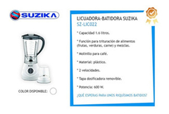 Licuadora C/ Jarra Electrica 1.5l 2 Velocidades New Hot-sale en internet