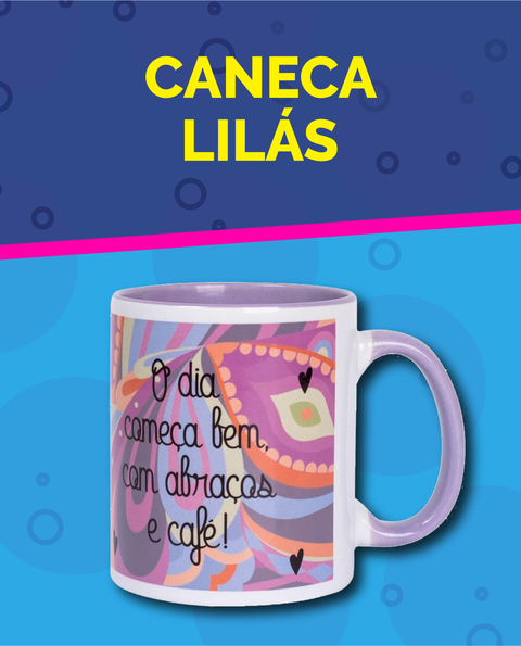 Caneca Colorida Lilás Personalizada Super Mídia On-line