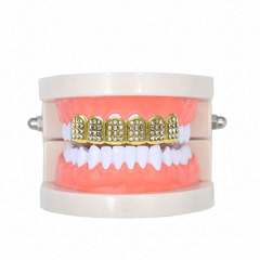 "Parrilla para Dientes Grillz ""Just Ice"" Mod. 1 Baño Oro 14 k - KITCH TECH"