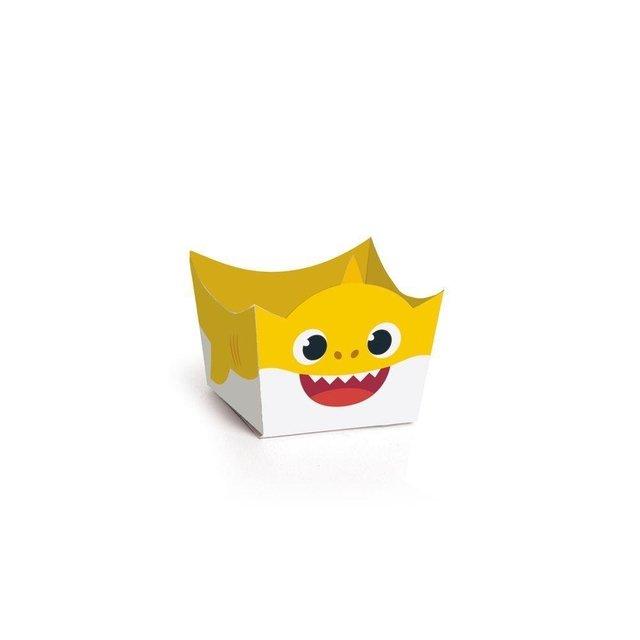 e4fdc8b5307d45 Forminhas Cachepot de Papel para Doces Baby Shark 3x3cm 24 unidades Cromus