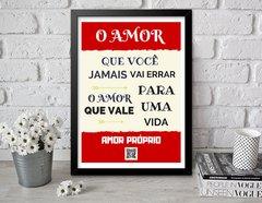 Quadro Decorativo Frases Motivacionais Amor Próprio