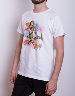 Remera HZD Aloy Watercolor Blanca Hombre - Geek Spot