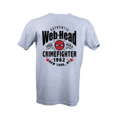 Remera Spiderman Web-Head Gris Hombre