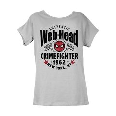 Remera Spiderman Web-Head Gris Mujer