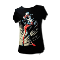 Remera Harley Quinn Contrast Negra Mujer