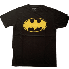Remera Batman Negra Logo Amarillo