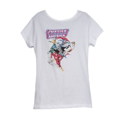 Remera Justice League Blanca Mujer