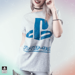 Remera PS Japon Gris Mujer