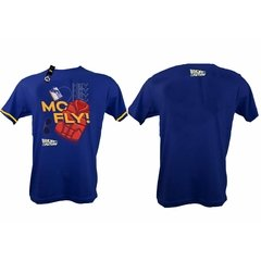 Remera Mc Fly Back To The Future Azul