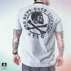 Remera Uncharted Calavera Gris - Geek Spot