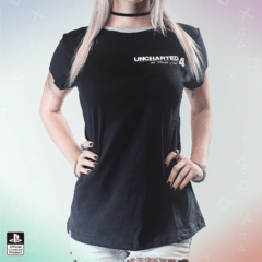 Remera Uncharted Calavera Negra Mujer (PlayStation Studios)